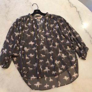 Rebecca Taylor NWOT 3/4 sleeve blouse. Sz 8
